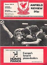 LIVERPOOL v WOLVES  1978-79  POSTPONED