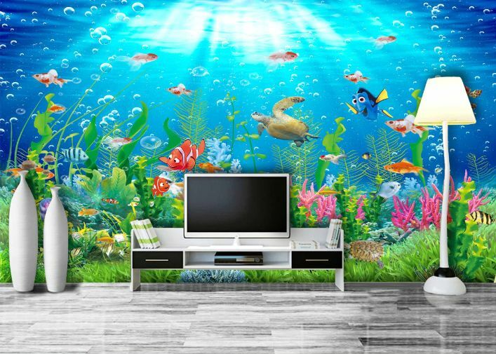 3D Die Unterwasser - Welt7 Fototapeten Wandbild Fototapete BildTapete Familie DE