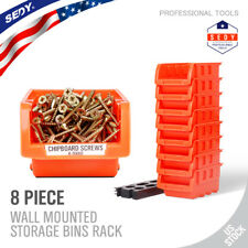 Details About 8 Stackable Storage Bins Plastic Small Container Organizer Parts