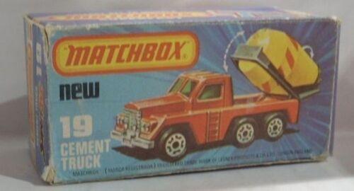 REPRO BOX MATCHBOX SUPERFAST n 19 CEMENT TRUCK