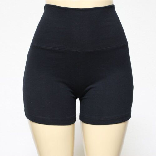 New Womens Yoga Short Pants Foldover Athletic Gym Sports Wristband 95/% Cotton