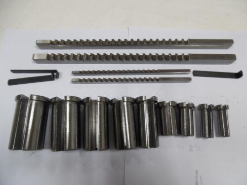 18pcs Keyway Broach Kit 1//8 3//16 1//4 3//8 Inch Size Cutter Metalworking Tool CNC