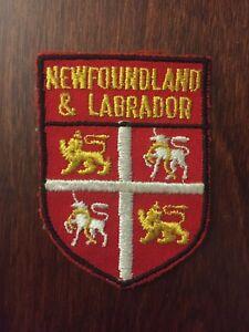 Vtg-Newfoundland-amp-Labrador-Embroidered-Sew-On-Patch-Canada-Travel-Souvenir-NFLD