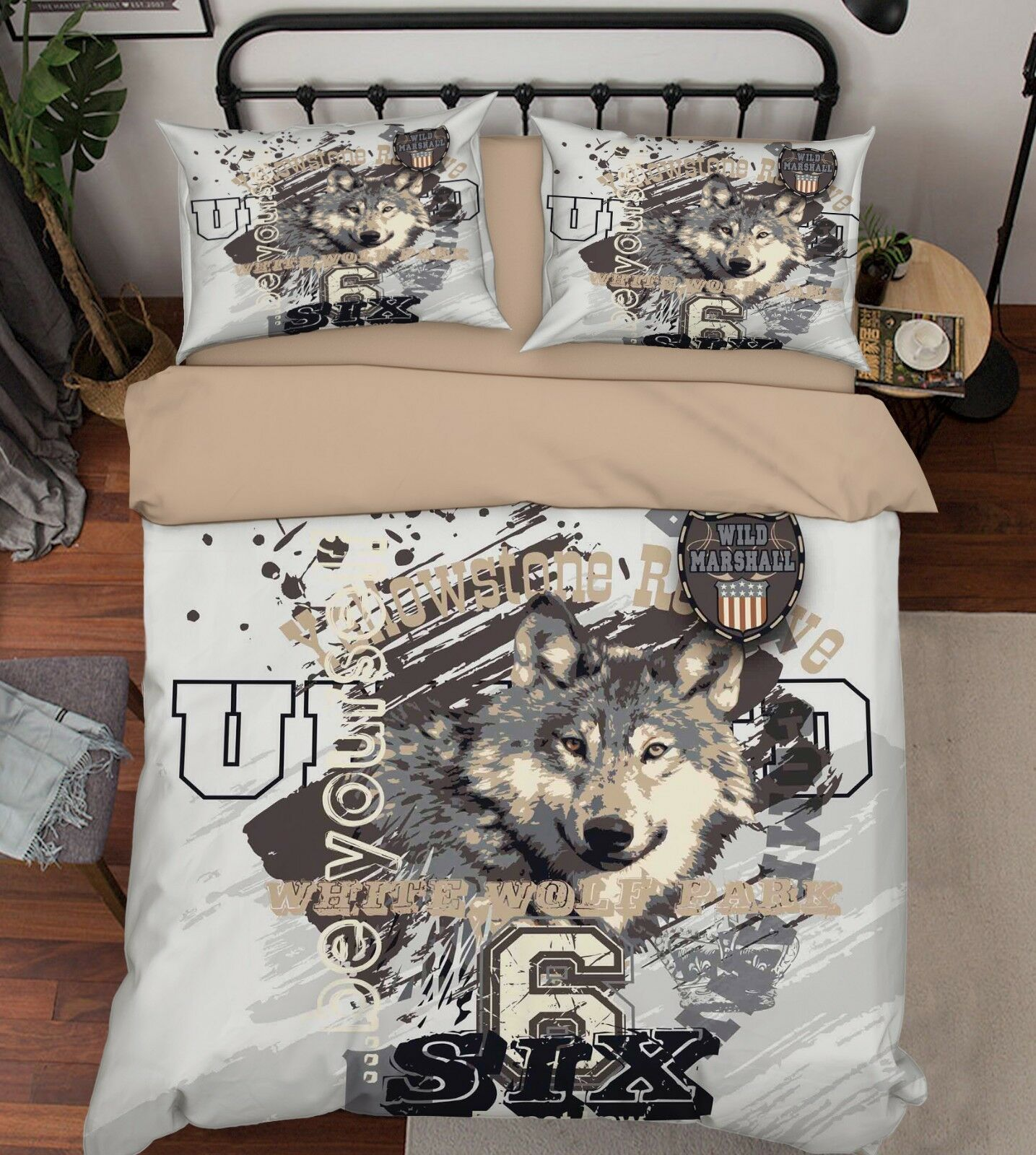 3D Painted Wolf 7838 Bed Pillowcases Quilt Duvet Cover Set Single King UK Summer