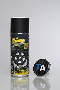 plasti dip felgenfolie spray dose 1x 400ml schwarz matt. Black Bedroom Furniture Sets. Home Design Ideas