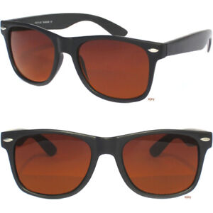 HIGH CONTRAST BLUE BLOCKER LENS Classic Style Driving Black Frame Sunglasses