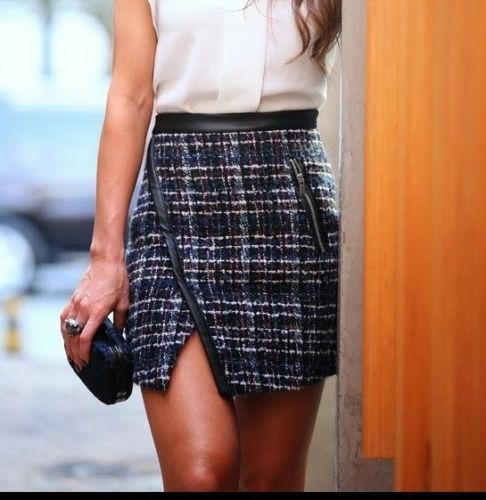 Skirt Wool Blend Small Mini Size S Combination Zara wSCxv4IBwq