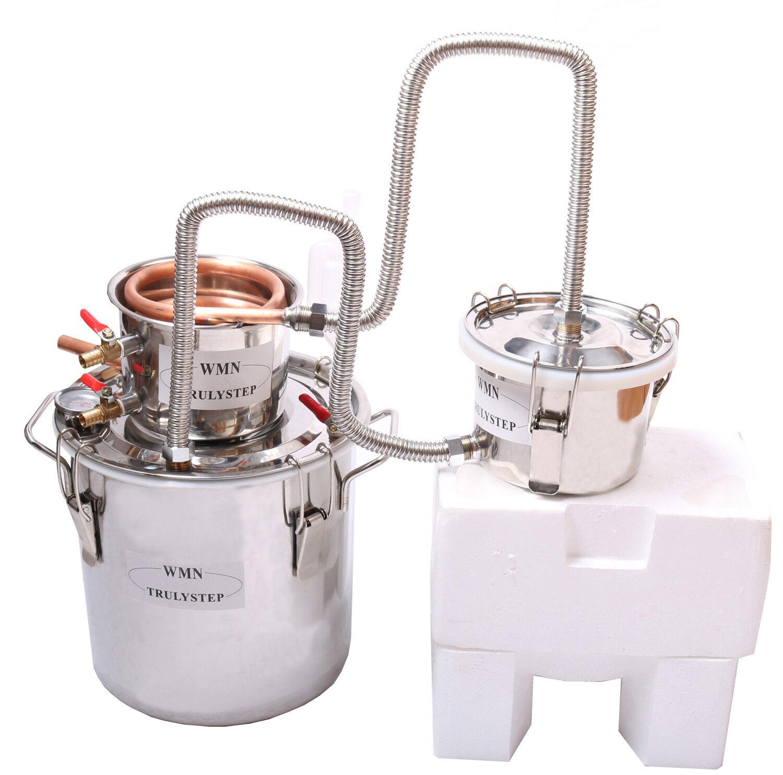10-100 L maison 3 pots DISTILLERIE Destillieranlage Refroidisseur COGNAC fabrication d'une huile essentielle
