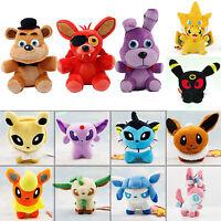 Pokemon Pikachu Eevee Fnaf Horror Game Plush Dolls Stuffed Cartoon Animal Toys