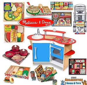 Image Is Loading Melissa Doug Role Play Wooden Kitchen Cutting Food