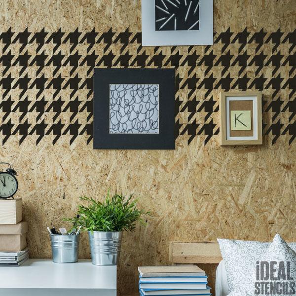 Hahnentritt Schablone Hahnentrittmuster Muster Farbe Tapete Kunst Handwerk Ideal