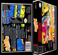 Super Aquatic Games - Snes Reproduction Art Case/box No Game.