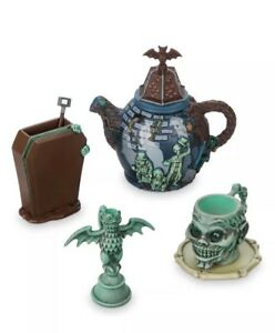 Disney-Parks-Haunted-Mansion-Mini-Tea-Set-Hitching-Ghosts-Gargoyle-Gift-Sold-Out