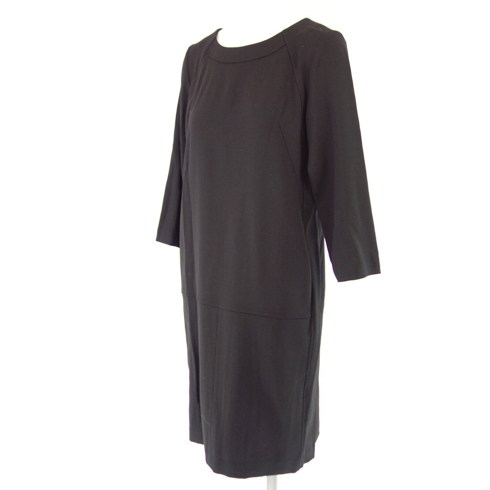 Rosso35 Vestito Donna S2963v It 42 De 36 Nero Nero Nero Tubino con Lana Np 389 Nuovo 9dd623