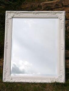 60-x-50-cm-SPIEGEL-Wandspiegel-Shabby-Barock-Zierrahmen-Facettenschliff-Ornament