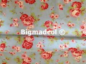 Cath Kidston Pink Fabric Dressmaking Curtains Nursery Quilting Cotton Metre SALE