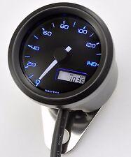 Daytona 48mm Velocímetro Speedo, 3 LED de Luz de Fondo Color Estuche Negro