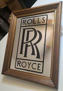 """Vintage ROLLS ROYCE RR Victor Logo  Framed Mirror Sign 14""""×11"""" (RR-01)"""