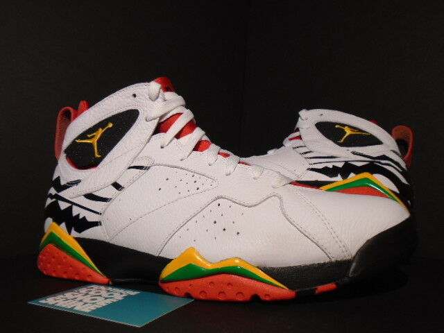 NIKE AIR JORDAN VII 7 RETRO PREMIO BIN 23 WHITE RED BLACK YELLOW 436206-101 10.5