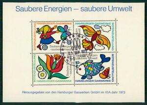 Actif Hmaburger Usines Spécial Bloc Iga 1973 Une énergie Propre Poisson Oiseau Fleur H3603-afficher Le Titre D'origine Convient Aux Hommes Et Aux Femmes De Tous âGes En Toutes Saisons