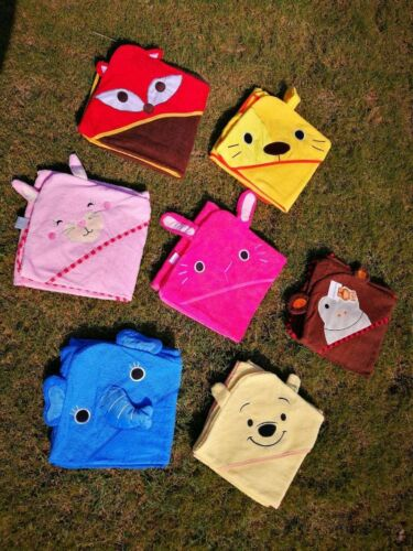 Animal Baby Bathrobe Towel Toddler 0-6 Years Face Cartoon Hooded Terry Cloth