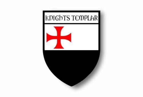 Autocollant sticker voiture moto blason drapeau templier chevalier croisade r2