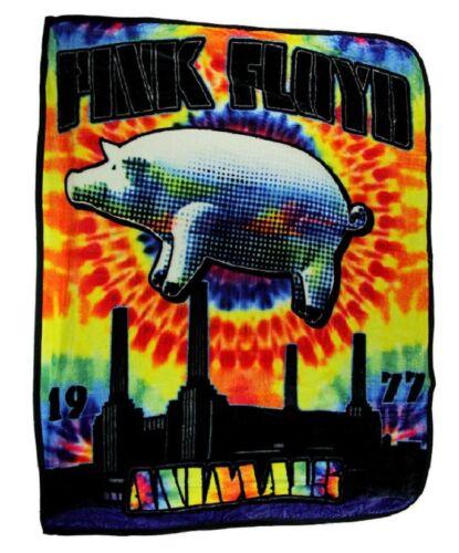 New Animals Pink Floyd Tie Dye Thick Plush Throw Gift Blanket Fleece Pigs 1977