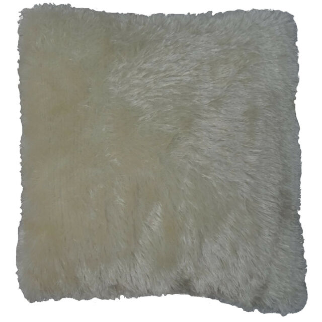 New Solid Color Faux Fur Decorative Throw Toss Sofa Pillow Case Cushion Cover