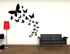 Adesivo farfalle stickers murale decalcomania composizione primavera vari colori