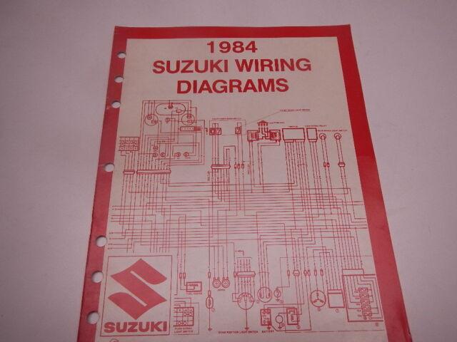 1984 Suzuki Wiring Diagrams Alt50 Alt125 Lt50 Fa50 Dr125 Pe175 Gs1100 Gs550 84
