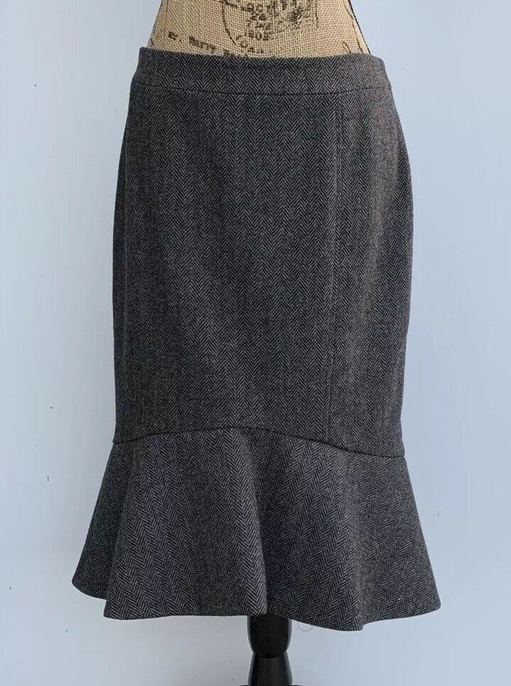 Womens Derek Lam Wool Skirt Size 8 Silk Lining Made In  Designer Clothes