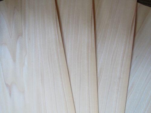 """~1//42 Poplar wood veneer 46 x 22 cm ~18.1 x 8.66/"""" 0.6 mm 4 veneer sheets"""