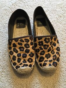 e8daf54e923 Image is loading Authentic-TORY-BURCH-Pony-Calf-Hair-Espadrille-Flats-
