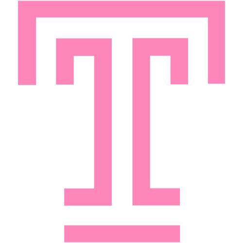 "2x Temple Owls University T Logo 2/"" Vinyl Decal Sticker Car Window Laptop V#2"