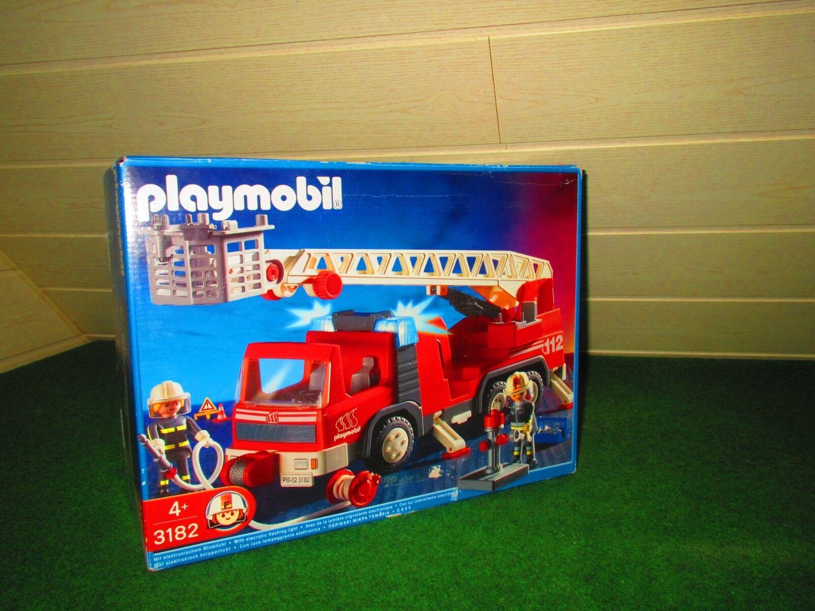 Playmobil 3182 Leiter Fahrzeug mit Licht  Auto Drehleiter  Zubehör in OVP