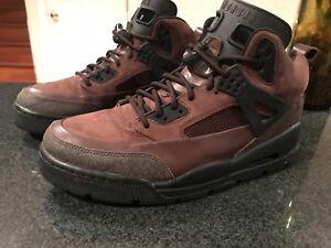 Rare Retro Jordan Winterized Spizike Size 9.5 Brown Black 2009 release boot