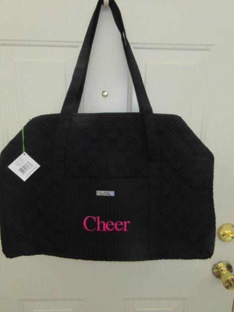 8b2176e5d2 Vera Bradley Large Duffel Classic Black Bag Cheer Brand New NWT Authentic