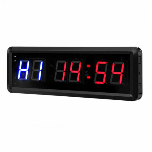 Up Clock W// Remote for Gym Fitness 1.5/'/' LCD Display Interval Timer Count Down