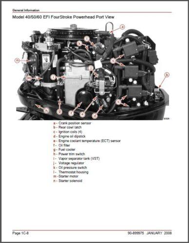 Parts & Accessories Mercury 40 50 60 BigFoot 40 Jet EFI Outboard ...