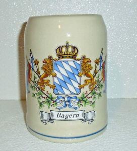 Bayern-Beer-Stein-Mug-Vtg-Bavaria-Germany-5-25-034