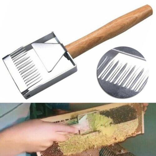 Edelstahl Imkerei Scraper Entdeckelungshobel Buche Honig Bee Hive Entdeckelung