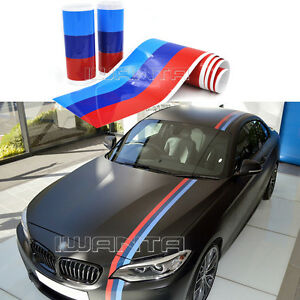 5 5m M Colored Stripe Car Hood Roof Trunk Sticker Decal