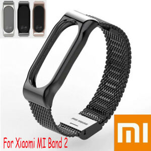 Smart-Bracelet-Edelstahl-Watch-Band-Strap-Metall-Armband-fuer-Xiaomi-Mi-Band-2