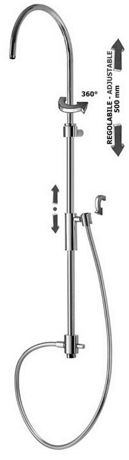 ZCOL719CRX Colonna doccia regolabile BERRY con deviatore PAFFONI