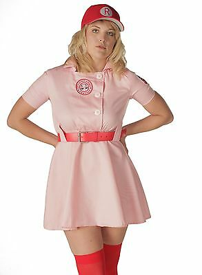 Adult Plus Baseball Movie AAGPBL A League of Their Own Rockford Peaches Costume