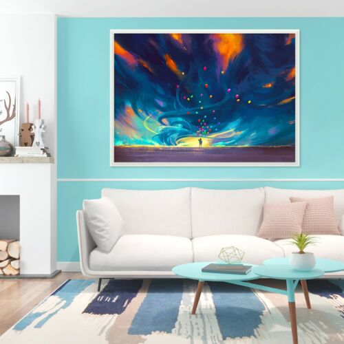 3D Sky Color 45 Fake Framed Poster Home Decor Print Painting Unique Art Summer