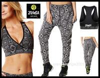Zumba Fitness 2 Piece Aztec V Bra Top & Harem Hip-hop Pant Rare-fr.convention Uk