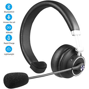 Bluetooth 5 0 Headphone Mic Wireless Phone Headset Clear Chat For Trucker Office Ebay
