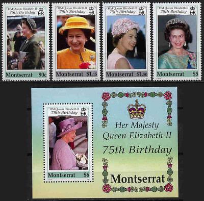 10512 Keine Rücknah Warm Und Winddicht Privatverkauf Montserrat 1145-1148+block 90 ** Elisabeth