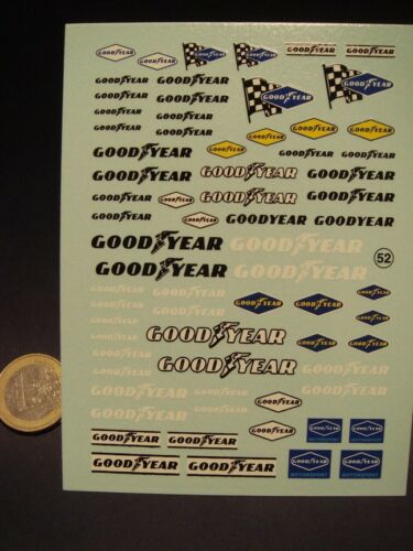 "T52b DECALS 1//24  LOGOS  /"" GOOD YEAR /"""